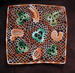 Irish Crochet Lace (stitchlily) Tags: ireland irish colour lace crochet dingle kerry cotton stpatrick fibre