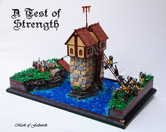 A Test of Strength. (Mark of Falworth) Tags: bridge tower castle lego battle knights gateway drawbridge warriors battlement lcc loreos