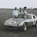 Dave MacDonald, Bob Holbert and Carroll Shelby Alongside #14 Shelby Cobra Daytona Coupe, February 1964