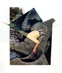(Eli Craven) Tags: art water collage magazine paper found rocks eli image fold craven tuck appropriate