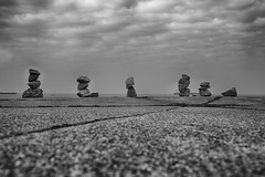 Stacked Rocks on Galveston Island