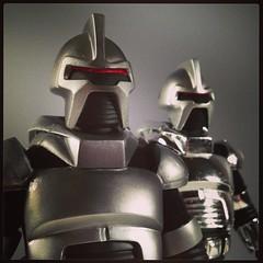 Battle Damaged Cylon (WEBmikey) Tags: toys galactica cylon mego instagram