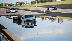 Ford the River (Kurayba) Tags: edmonton alberta canada panasonic lumix lx100 flood rain storm clogged drain whitemud drive extreme weather cars flooded water road 106 street underpass overpass rush hour wednesday july 27 2016 ford river lost fail failed eps police service urban