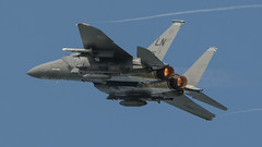 USAF F-15 departing RIAT 16 (robdsn) Tags: usaf mcdonnelldouglas f15 riat16 airshow