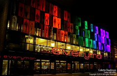All rights reserved Collette Rawlinson (Collette Rawlinson) Tags: liverpool pride 2016 lights rainbow comeoutoftheshadows lgbtq community theatre everyman lgbt flag