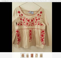 Fake Mexican Blouse India (Teyacapan) Tags: fakemexicanclothing fakes stolendesigns india embroidered blouse copies