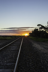 Sunset Tracks ((arteliz)) Tags: farm field fields tresco victoria australia landscape outside outdoor arteliz arttelizphotography tracks track traintrack train sunset sky sun colour colourful