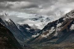 Val d' Aosta - verso il  Monte Bianco (antosti) Tags: italia valaosta monte bianco paesaggio neve nikon d70s morgex inverno landscape mountain nuvole