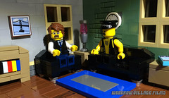 Good news / bad news... (woodrowvillage) Tags: lego moc minifigure mini figure legos build brick leather horror psychiatrist doctor mental health counselor self help murder pain kill death twins