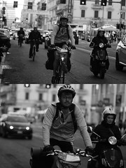 [La Mia Citt][Pedala] (Urca) Tags: milano italia 2016 bicicletta pedalare ciclista ritrattostradale portrait dittico nikondigitale mir bike bicycle biancoenero blackandwhite bn bw 88197
