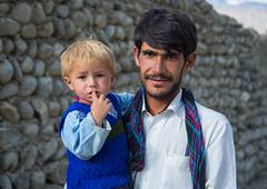 Portrait of an afghan boy with blonde hair with his father, Badakhshan province, Khandood, Afghanistan (Eric Lafforgue) Tags: 2529years 45years afghan114 afghanistan badakhshanprovince blonde boy centralasia colourimage community contrast father horizontal ismaili khandood lifestyles lookingatcamera males outdoors photography son twopeople wakhan wakhi pamir afeganisto