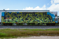 (o texano) Tags: cbs kuhr houston texas graffiti trains freights bench benching wholecar