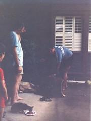 The Delivery of the Saddle - c1983 (kimstrezz) Tags: 1983 familytriptohawaiic1983 hanaleibay kauai unclebob brucecarll bert