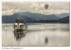 Ullswater Steamer (Paul Simpson Photography) Tags: ullswater ullswatersteamer raven paulsimpsonphotography photoof photosfrom photosof imageof imagesof cumbria lakedistrict nationalpark september2016 sonya77 water transport boat ship balloon mountains lake lakes nature