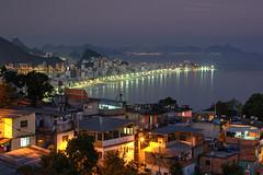 Saudade (hapulcu) Tags: brasil brazil riodejaneiro favela slum atlantic bluehour vidigal dusk