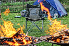 camping (Jackal1) Tags: camping leisure scotland arty creative fire seat tent weekend fun canon 50mm emptyseat