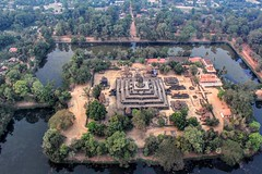 Angkor Wat city by Air (cattan2011) Tags: ancientruin waterscape landscapephotography landscape travel ancientcity ancientisland cambodia angkorwatisland angkorwat