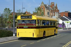 Glad to see the back of it. (Renown) Tags: bus singledecker daimler roadliner src6 srp8 duple willowbrook bournemouth corporation transport yellowbuses pops rbw potteriesomnibus preservation restored hanley stokeontrent rally runningday heritage potteriesconection 2016