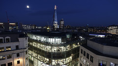 Shard at night (steven.kemp) Tags: cannon street london shard city skyline night sky moon architecture building office tower urban cityscape landscape