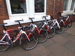 Some Ridley bicycles (Steelywwfc) Tags: andre greipel jasper de buyst jens debusschere james shaw tony gallopin marcel sieberg lotto soudal ridley 2016 tour britain carlisle