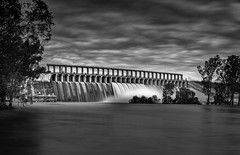 The Spill (Mark Lucey) Tags: humeweir albury murrayriver newsouthwales flowingwater waterscape damspill panorama damwall clouds drama lakehume australia