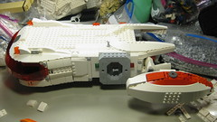 SHIPtember 2016 WIP - 21c (DJ Quest) Tags: lego shiptember 2016 space ship puzzle shapping front section engine pod