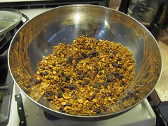 Spent Grain Granola (kevin63) Tags: lightner photo bowl spentgrain barley brewing granola raisins oats cashews sunflowerseeds maplesyrup home brew byproduct another damn facebook post