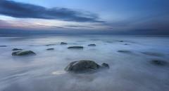 No. 1077 September faded sunset (H-L-Andersen) Tags: landoflight landscape landscapes seascape manfrotto 6d canon6d canoneos6d lee leefilters longexposure le denmark hirtshals hlandersen sea serene outdoor rocks boulders