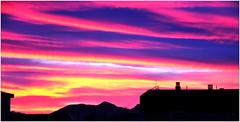 0007-SILUETAS DESDE MI BALCN - GRANADA  - (-MARCO POLO--) Tags: atardeceres ocasos