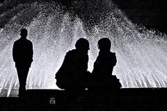 loneliness & togetherness (O.Krger) Tags: niedersachsen hannover georgengartenhannover herrenhusergrten deutschland germany streetphotography sw schwarzweis socialdocumentary streetlife silhouette monochrom bw bianconero blackwhite peopleinthecity people flickrunitedaward