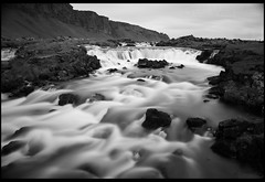 Rapids Off Route 1 (Nrbelex) Tags: bw black white blackandwhite blackwhite canon dslr 5dmkiii nrbelex ef2470mm 2470mmf28 2470mm 2470mml 5diii iceland waterfall stream water nd110 bwnd110 bw110