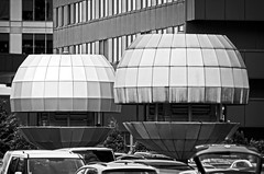 80's Architecture - Carl Zeiss Jena Sonnar 180mm f2.8 (petrwag) Tags: carlzeiss manuallens blackandwhite blancoynegro bw blackwhite prague praha ernobl czech clickcamera