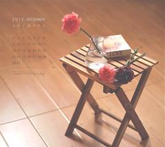 December Calendar (Faisal | Photography) Tags: wood morning flowers white glass eos book soft dof bokeh good 14 usm 50 tones ef ef50mmf14usm 50d canoneos50d decembercalendar faisal|photography فيصلالعلي