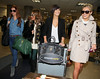 Girl group The Saturdays arrive at LAX airport