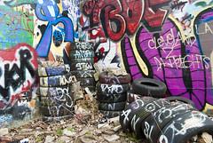 (.:Chelsea Dagger:.) Tags: ohio graffiti cleveland tires clevelandohio urbanexploring urbex chelseadagger chelseakaliwhatever cmckeephotography chelseamckee