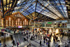 Liverpool St Station (Wameq R) Tags: england people sun sunlight color london station train britain crowd sunny hdr liverpoolstreet lightroom photomatix efex blinkagain me2youphotographylevel1