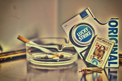 Smoking Lucky Strike
