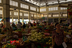 Kratie's Central Market (Jonas Hansel) Tags: street people vegetables fruit architecture digital canon shopping geotagged eos rebel kiss cambodge cambodia kambodscha khmer market colonial clothes shops produce tamron stalls centralmarket cambodja t3i x5 kratie kampuchea 600d psar 2013 18270 kracheh kratié krachen tamron18270 canonrebelt3i canonkissx5