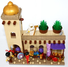 LCC: Feast at the mosque (main) (Simon S.) Tags: castle classic expedition lego bricks mosque arab lands orient lcc arabians loreos loreesi