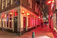 Red Light District, Amsterdam, Netherlands (u2giants) Tags: street windows red holland window netherlands amsterdam night lights alley prostitute prostitution hooker redlight redlightdistrict litup
