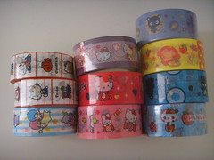deco tapes! (oh so wuvly) Tags: hello cute japan stars little kitty twin sanrio boo tape kawaii deco nyan maru chococat badtz nyanko pandapple monkichi