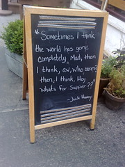 Wise words, Greenwich Village, NYC (BuonCuore) Tags: street food coffee car truck snacks van cart sales vending olsen concession grumman foodtruck stepvan streetsales