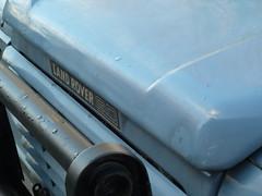 Land Rover blue (amy's antics) Tags: old vehicle bonnet landrover paleblue 365d