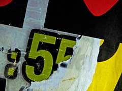 TypoGraphics_Palma_Ol' 55_Palma_DSF5813 (jonwaz) Tags: street red black green art yellow poster typography spain graphics europa decay espana posters torn 55 typo mallorca palma typographics tornposter ol55 jonwaz