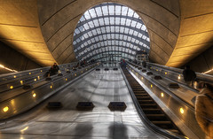 """Canary Wharf Escalator • <a style=""""font-size:0.8em;"""" href=""""http://www.flickr.com/photos/45090765@N05/8408073567/"""" target=""""_blank"""">View on Flickr</a>"""