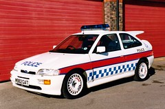 Humberside Police Ford Escort RS Cosworth Vehicle Crime Unit (PFB-999) Tags: road ford police crime vehicle hull vcu beacon rs section escort unit cosworth rsc lightbar humberside rcu jamsandwich