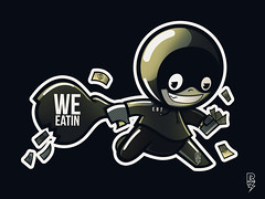 "RICKY RUFF X EBT ""WE EATING"" (sinkorswimdetroit.com) Tags: streetart illustration graphicdesign stickerart character stickers cartoon detroit ruff characterdesign artprints uvt usvsthem stickerdesign graffitistickers graffiticharacter detroitarts detroitgraphicdesign rickyruff teamusvsthem rickyruffdetroit"