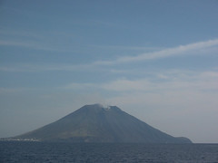 Stromboli (DJ Greer) Tags: cruise family sea italy mountain water boats volcano boat mediterranean sailing cruising boating sail erupt stromboli