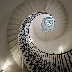 Tulip Staircase (Scott Baldock Photography) Tags: park old uk light england white house building london art museum architecture stairs spiral nikon exposure angle geometry interior greenwich great wide royal ceiling queen east escalera queens staircase maritime dome tulip gb clipper spiralstaircase lightroom queenshouse tulipstaircase cityarchitecture explored d7000