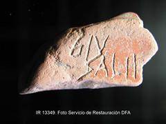 IR 13349 www.AmaAta.com Irua Veleia (AMA ATA) Tags: archaeology foro ama material historia ata pieza caligrafa escritura arqueologa grafito rotos c14 trozos hallazgo ostracon lingstica gentica veleia ostraka iruaveleia sector6 ostraca carbono14 amaata ue6181